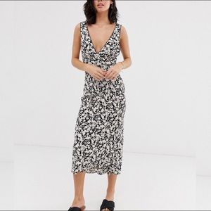 NWT Free People Ohh La La Bias Midi Dress in Black